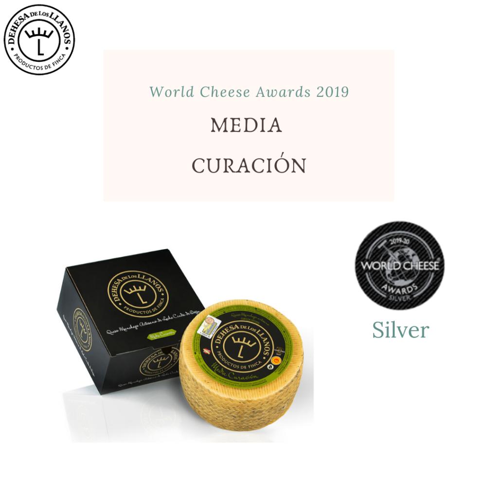 queso media curación dehesa de los llanos premio plata wca 2019